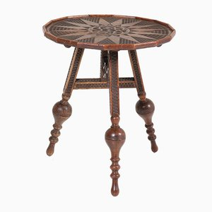 Dutch Renaissance Revival Tilt-Top Flap Table, 1900s