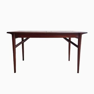 Mid-Century Teak & Walnut Extendable Dining Table from Everest
