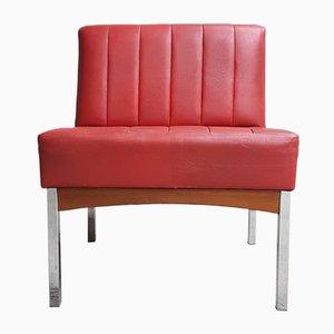 Mid-Century Chrome & Teak Chair from Antocks Lairn, 1970s