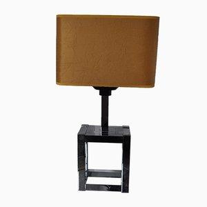 Lampada da tavolo cubica di Willy Rizzo per Lumica, anni '70