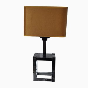 Lampe de Bureau Cubique par Willy Rizzo pour Lumica, 1970s