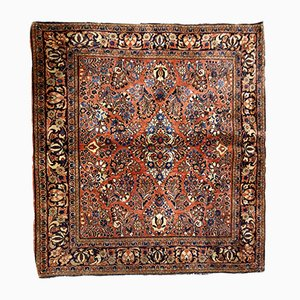 Square Vintage Middle Eastern Rug, 1920s