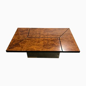 Vintage Burl Coffee Table by Paul Michel, 1970s