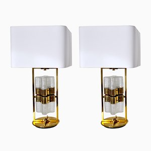 Hollywood Regency Murano Glass Table Lamps, 1970s, Set of 2