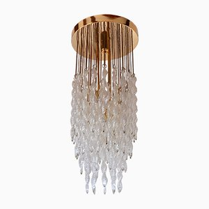 Vintage Crystal Cascading Chandelier by Paolo Venini for S.A.L.I.R. Murano, 1970s