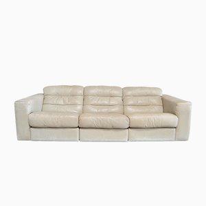 Canapé en Cuir DS105 Vintage Ecru White de de Sede