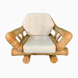 Vintage Bamboo Club Chair