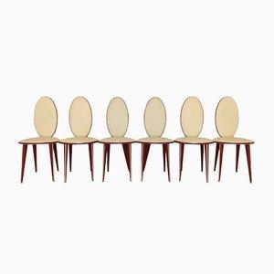 Vintage Esszimmerstühle von Umberto Mascagni, 1950er, 6er Set