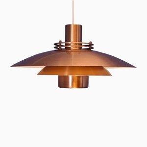 Danish Copper Pendant from Form Light, 1970s