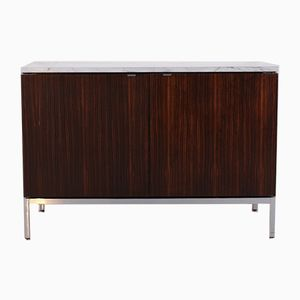 Palisander & Marble Sideboard by Florence Knoll Bassett for Knoll International, 1970s