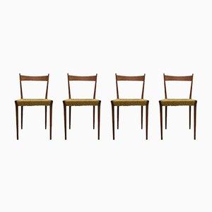 Teak S2 Esszimmerstühle von Alfred Hendrickx für Belform, 1960er, 4er Set