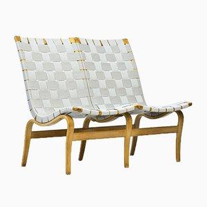 2-Sitzer Eva Sofa aus Birke & Leinen von Bruno Mathsson für Firma Karl Mathsson, 1969
