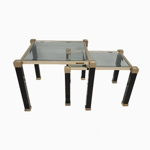 Brass Nesting Tables by Pierre Vandel, 1980s