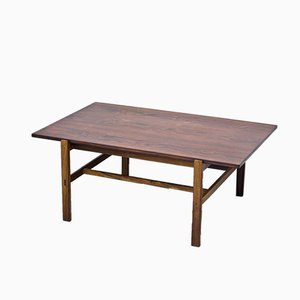 Large Swedish Rosewood Coffee Table by Inge Davidson for Ernst Johansson, 1960s