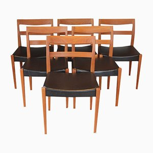 Scandinavian Teak & Skai Garmi Chairs by Nils Jonsson for Troeds, 1960s, Set of 6