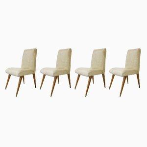 Mid-Century Esszimmerstühle aus Teak von Maple & Co, 4er Set