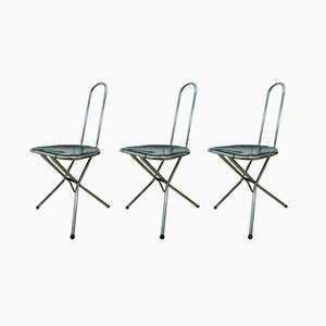 Folding Chairs by Niels Gammelgaard for Ikea, 1970s, Set of 3