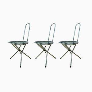Sedie pieghevoli di Niels Gammelgaard per Ikea, anni '70, set di 3