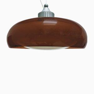 Vintage Perspex Glass Pendant Lamp