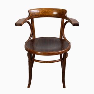 Antique Bentwood Office Chair from Fischel