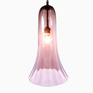 Art Deco Handmade Glass Pendant Lamp, 1930s