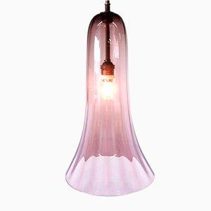 Lámpara colgante Art Déco de vidrio hecha a mano, años 30