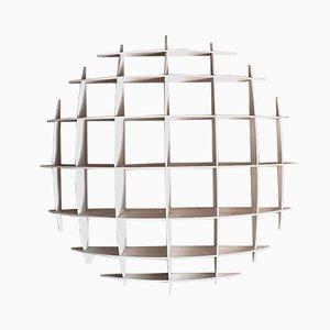 White Lacquered Wood Model Tyco Bookshelf by Massironi Manfredo for Nikol International, 1970s