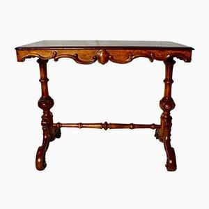 Tavolo di servizio vittoriano in noce, metà XIX secolo