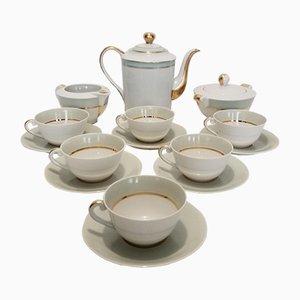 Limoges Kaffeeservice aus Porzellan von Albert Vignaud, 1950er