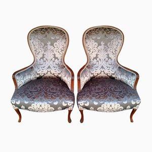 Fauteuils Antiques Art Nouveau, Set de 2