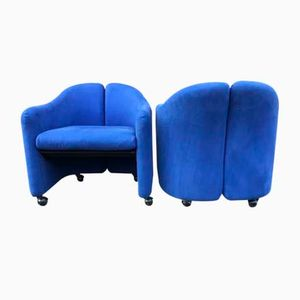 Vintage PS142 Armchairs by Eugenio Gerli for Tecno, Set of 2