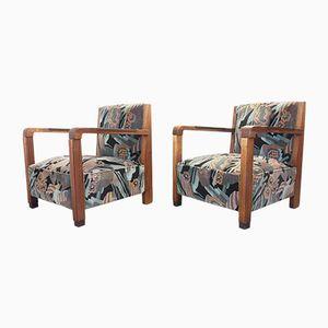 Niederländische Art Deco Sessel, 2er Set