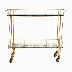 Hollywood Regency Style Metal Bar Cart from Erdecor, 1950s