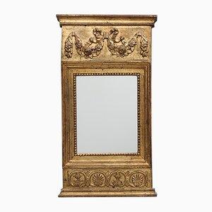 Gustavianischer Spiegel mit Holzrahmen, 1810er