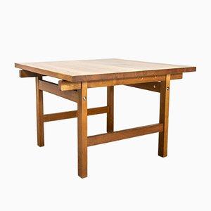 Tavolino da caffè in massiccio di quercia di Hans J. Wegner per Andreas Tuck, anni '60