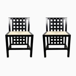 DS3 Chairs by Charles Rennie Mackintosh for Cassina, 1970s, Set of 2