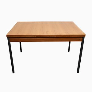 Teak & Metal Extendable Dining Table, 1960s
