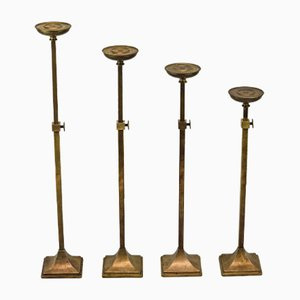 Art Deco Adjustable Shop Whindow Stands, 1920s, Set of 4