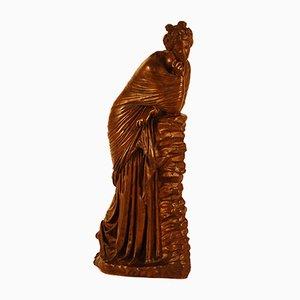 Scultura antica raffigurante una donna in bronzo di Ferdinand Barbedienne