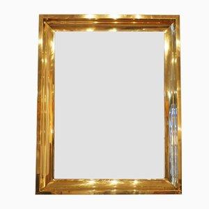 Specchio vintage in ottone dorato