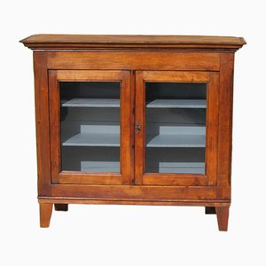 Antique French Oak and Pitch Pine Showcase