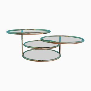 Vintage Golden Extendable Coffee Table, 1970s
