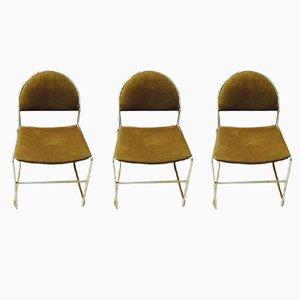 Chaises d'Appoint Vintage, 1970s, Set de 3