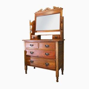 Coiffeuse avec Miroir Antique Édouardienne