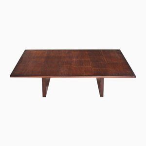 Vintage French Bamboo Veneer Coffee Table