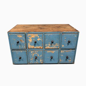 Finnish Blue Chest of Drawers, 1940s
