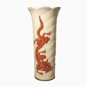 Jarrón vintage de porcelana de Forkert Dresden, años 50