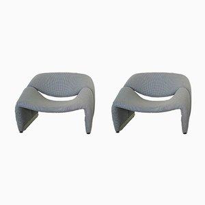 Groovy Chairs von Pierre Paulin für Artifort, 1970er, 2er Set