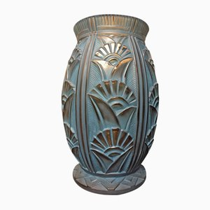 Große Art Deco Vase von Lorrain France, 1920er