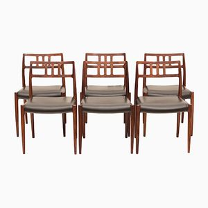 Model 79 Rosewood Dining Chairs by Niels O. Møller for J.L. Møllers, 1960s, Set of 6